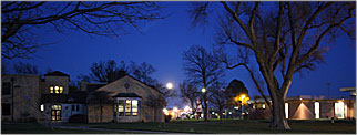 Hutchinson Community College campus at night